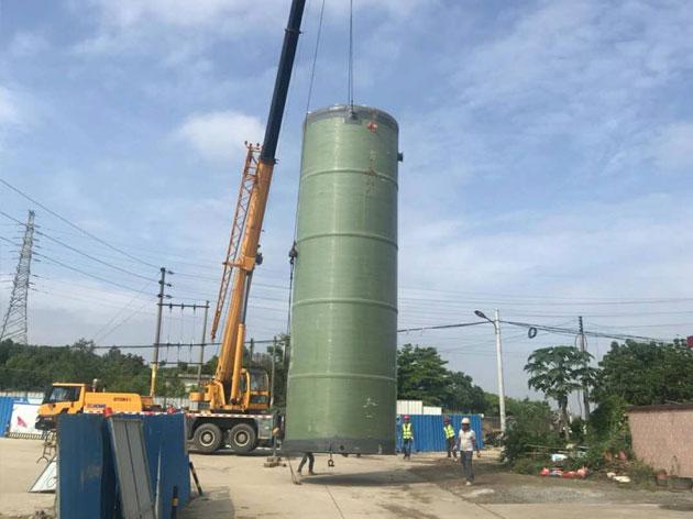 惠州水口东江高新区雨污分流泵站吊装