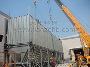 广州开发区脉冲式布袋除尘器安装现场